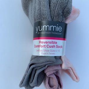Yummie Reversible Cushion Socks 3 pack